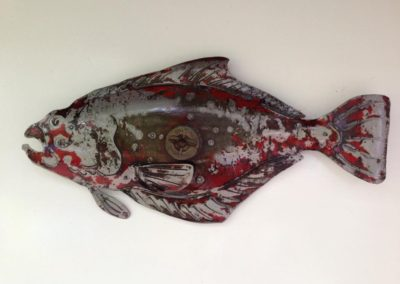 'Diesel' - Beautiful Halibut made from old tractor fuel tank