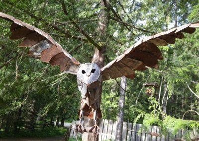 Owl on Shovel