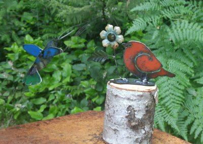 Hummingbird with a bird