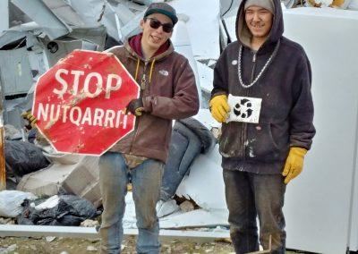 Keenan & Andrew goin gangsta at the metal dump...