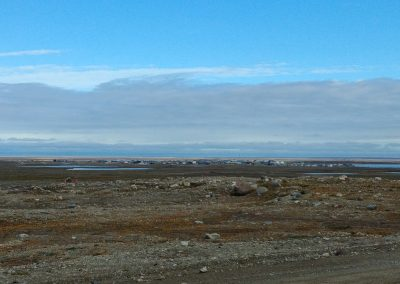 Looking back to Cambridge Bay