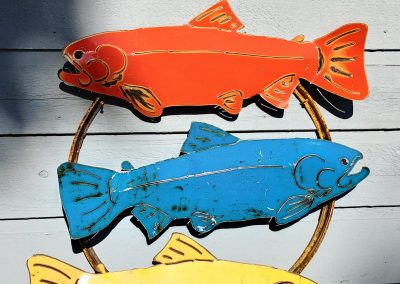Triple Salmon on Drum Lid Ring